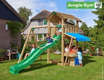 Jungle Gym | Cottage + Mini Market + 1-Swing X'tra | DeLuxe | Donkergroen