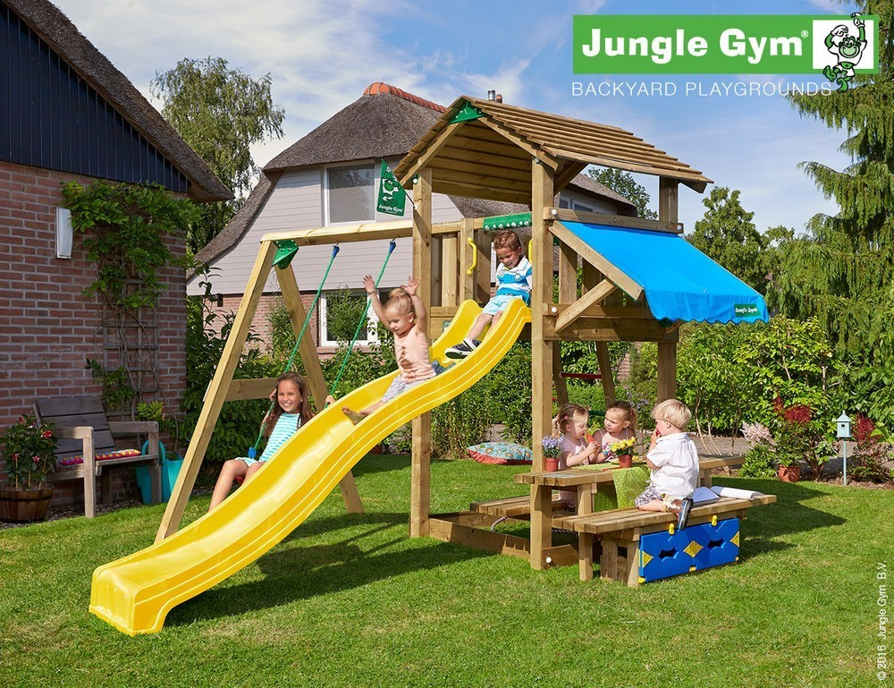 Jungle Gym + Cottage + Mini Picnic + 1-Swing X'tra   DeLuxe   Paars