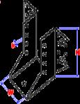 Balkendrager 'U' a | 71.00x154 Zn (2.00)