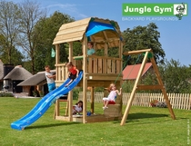 Jungle Gym | Barn + 1-Swing Module X'tra | DeLuxe | Blauw