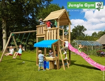 Jungle Gym | Palace + Mini Market + 2-Swing X'tra | DeLuxe | Blauw
