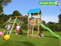 Jungle Gym | Castle + Climb Module X'tra | DeLuxe | Blauw