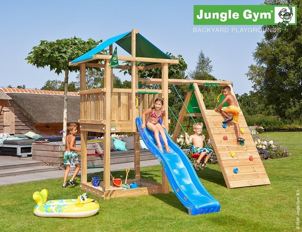 Jungle Gym | Hut + Climb Module X'tra | DeLuxe | Blauw