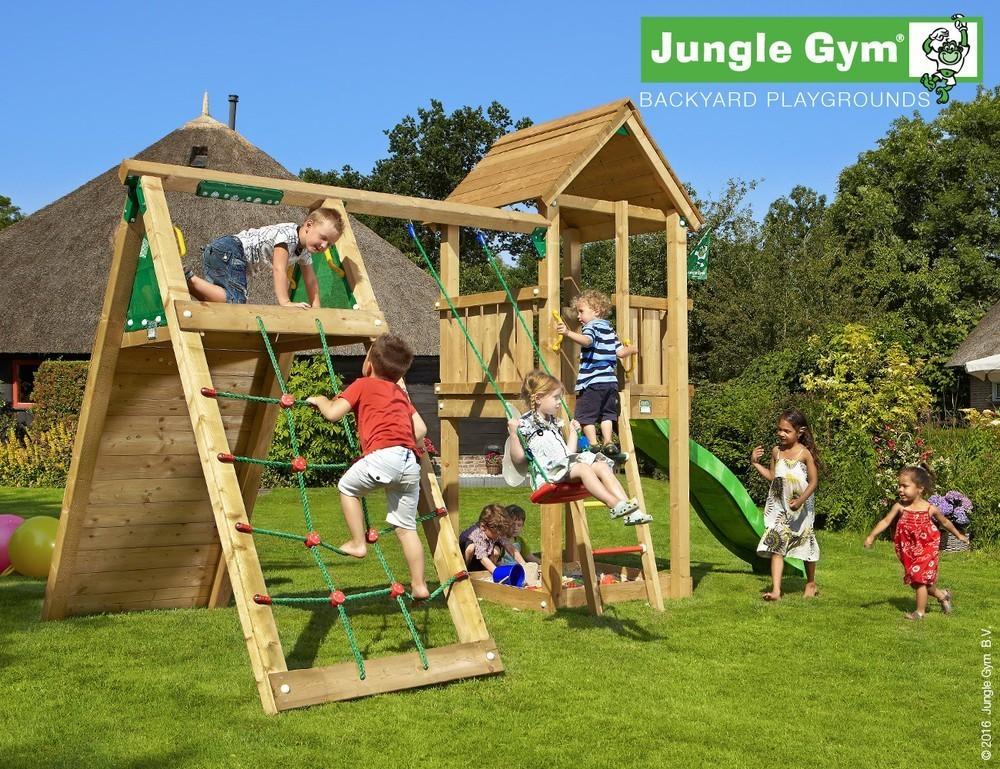 Jungle Gym | Club + Climb Module X'tra | DeLuxe | Donkergroen