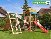 Jungle Gym | Home + Climb Module X'tra | DeLuxe | Blauw
