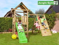 Jungle Gym | House + Climb Module | DeLuxe | Blauw
