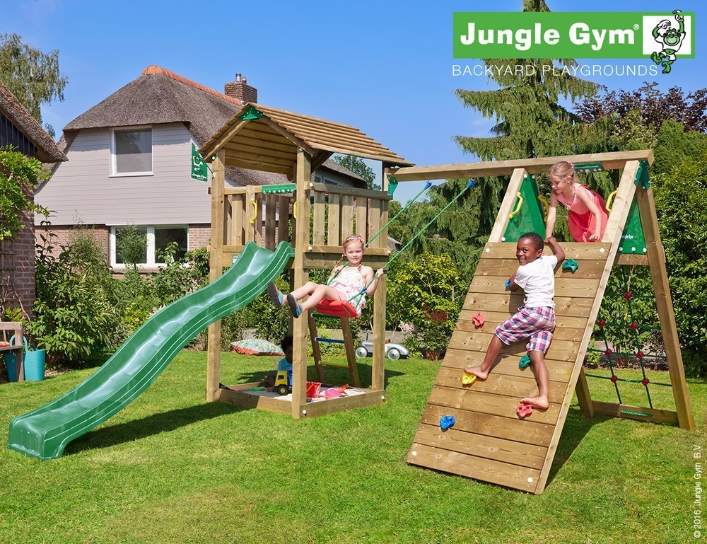 Jungle Gym   Cottage + Climb Module X'tra   DeLuxe   Rood