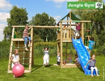 Jungle Gym | Lodge + Climb Module | DeLuxe | Blauw