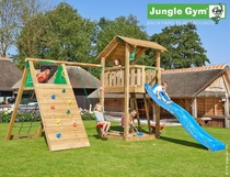 Jungle Gym | Shelter + Climb Module X'tra | DeLuxe | Blauw