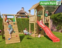 Jungle Gym | Mansion + Climb Module X'tra | DeLuxe | Blauw