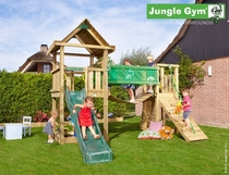 Jungle Gym | House + Bridge Module | DeLuxe | Blauw