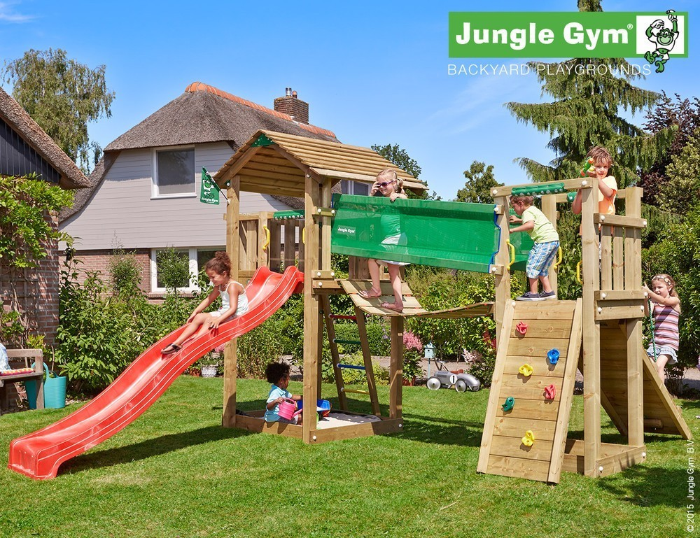 Jungle Gym | Cottage + Bridge Module | DeLuxe | Geel