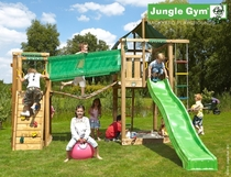 Jungle Gym | Lodge + Bridge Module | DeLuxe | Blauw