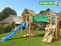 Jungle Gym | Cabin + Bridge Module | DeLuxe | Blauw