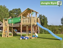 Jungle Gym | Shelter + Bridge Module | DeLuxe | Blauw