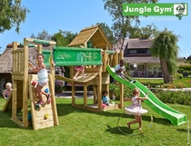 Jungle Gym | Cubby + Bridge Module | DeLuxe | Blauw