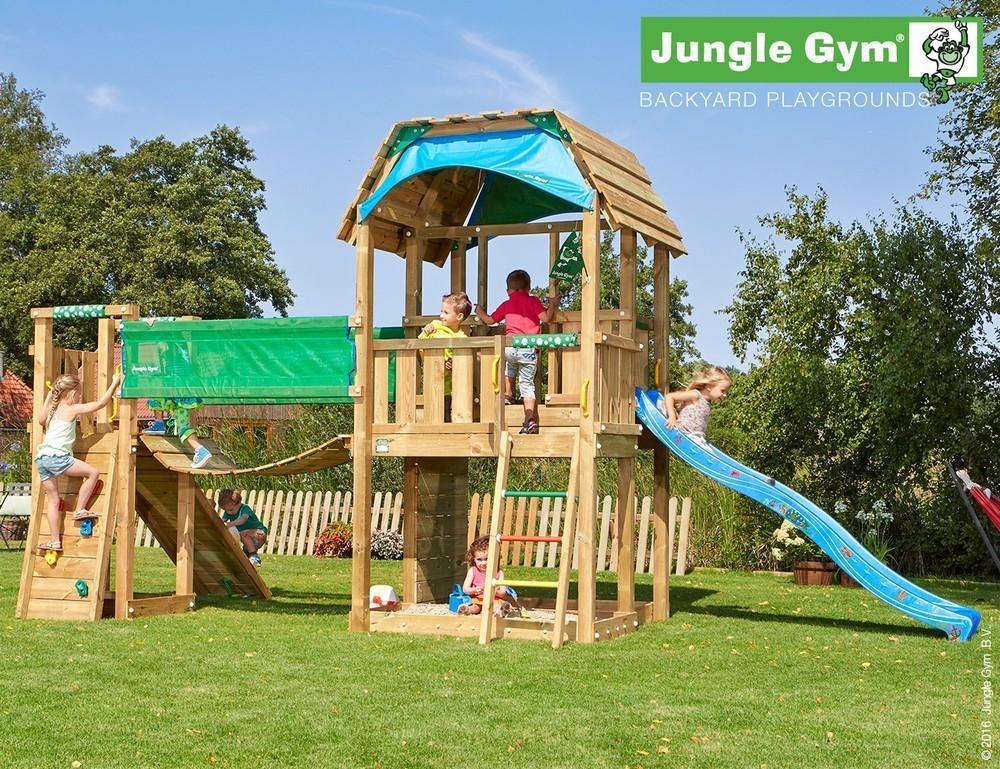 Jungle Gym | Barn + Bridge Module | DeLuxe | Blauw