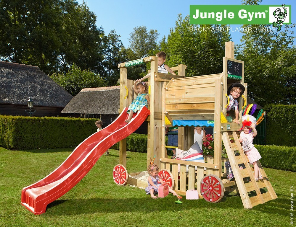 Jungle Gym | Tower + Train Module | DeLuxe | Donkergroen