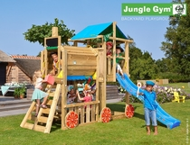 Jungle Gym | Hut + Train Module | DeLuxe | Blauw