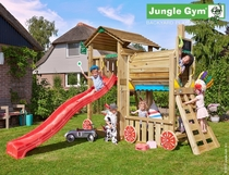 Jungle Gym | Cottage + Train Module | DeLuxe | Blauw