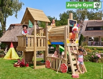 Jungle Gym | Cubby + Train Module | DeLuxe | Blauw