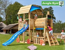 Jungle Gym | Barn + Train Module | DeLuxe | Blauw