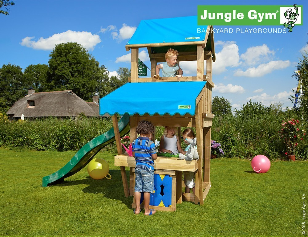 Jungle Gym | Castle + Mini Market Module | DeLuxe | Paars