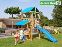 Jungle Gym | Hut + Mini Market Module | DeLuxe | Blauw