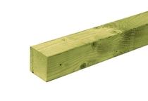 CarpGarant | Geschaafd vuren paal 12 x 12 | 300 cm