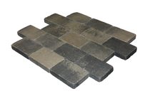 MBI | MB Drumstone 15x15x6 | Grijs/zwart