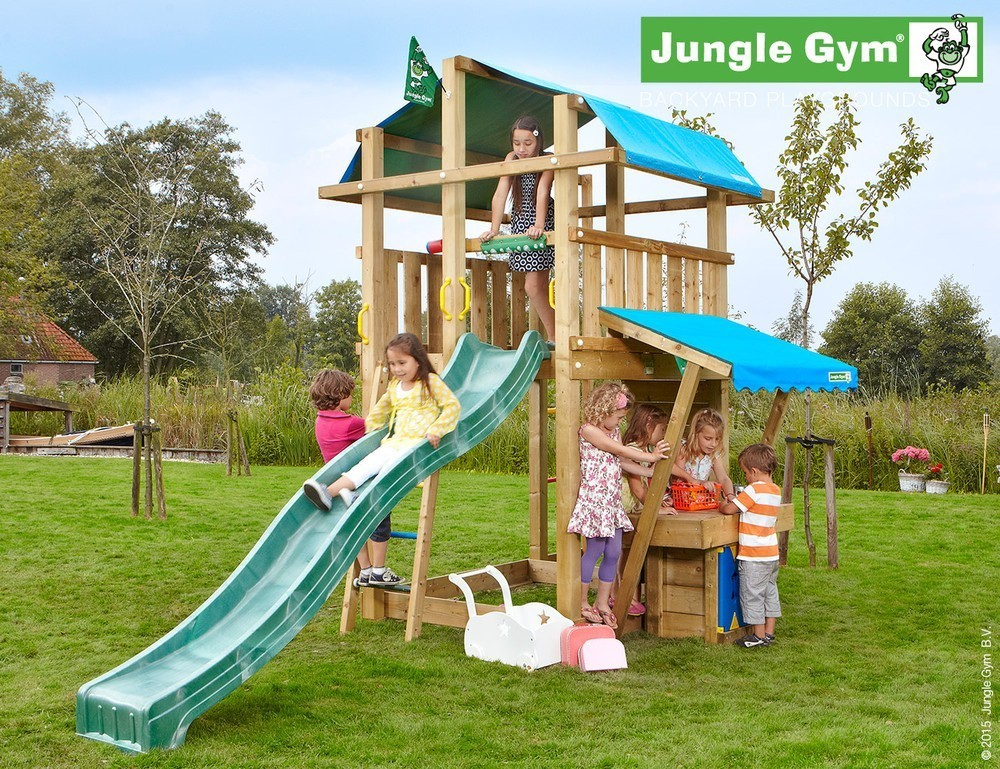 Jungle Gym | Fort + Mini Market module | DeLuxe | Geel
