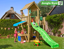 Jungle Gym | Mansion + Mini Market Module | DeLuxe | Blauw