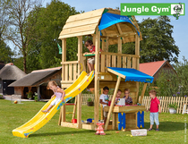 Jungle Gym | Barn + Mini Market Module | DeLuxe | Blauw