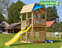 Jungle Gym | Barn + Mini Picnic Module | DeLuxe | Blauw