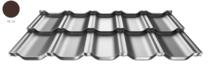 ArcelorMittal | Dakpanplaat | Zet® modular | Terracotta | 35 x 118cm