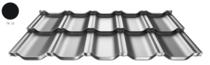 ArcelorMittal | Dakpanplaat | Zet® modular | Zwart | 35 x 118 cm