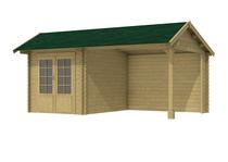 Woodvision | Kapschuur Zambezi | Dubbele deur | Groen geimpregneerd