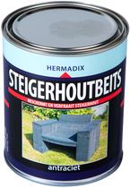 Hermadix | Steigerhouten beits Antraciet | 750 ml