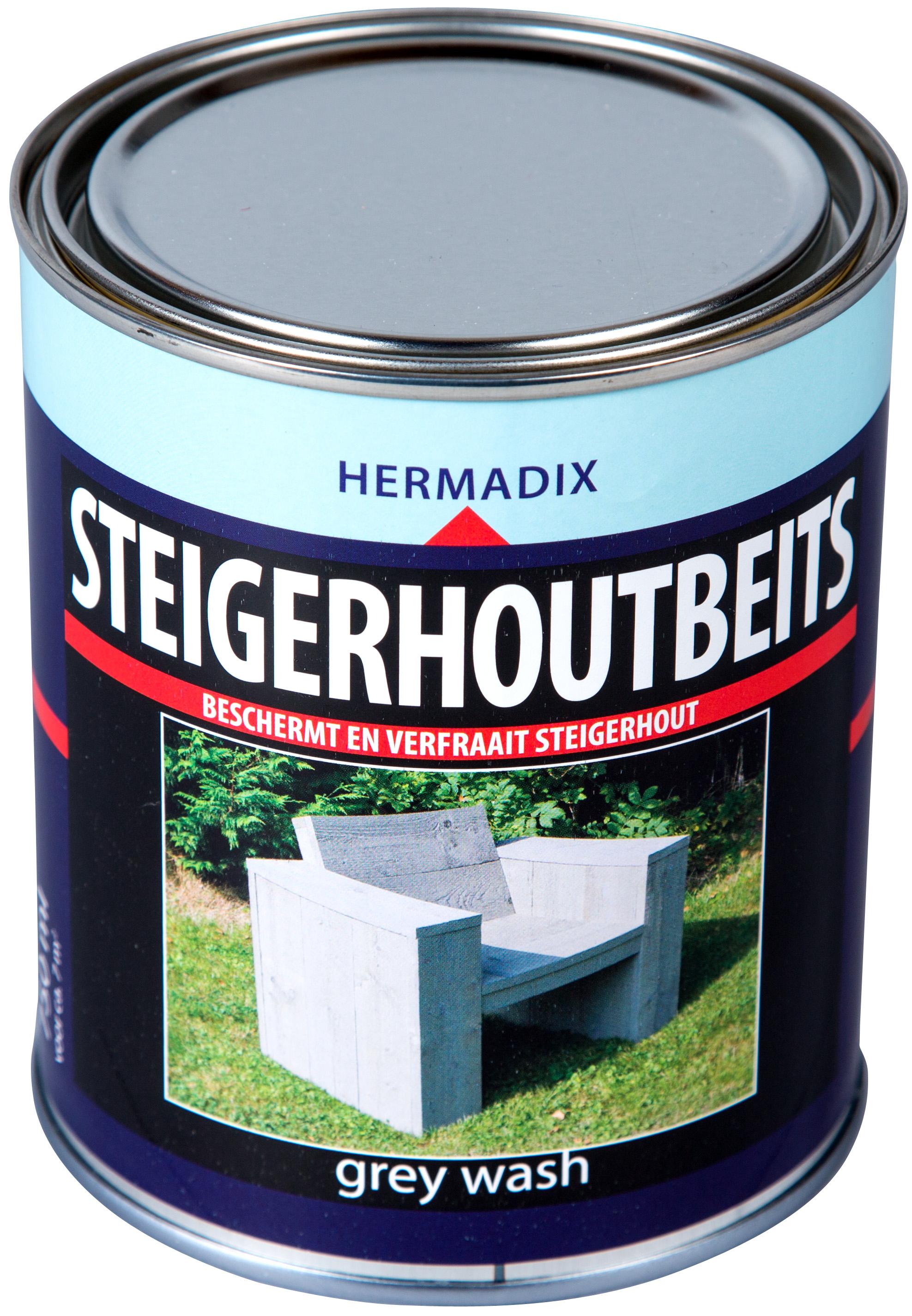 Hermadix   Steigerhouten beits Grey Wash   750 ml