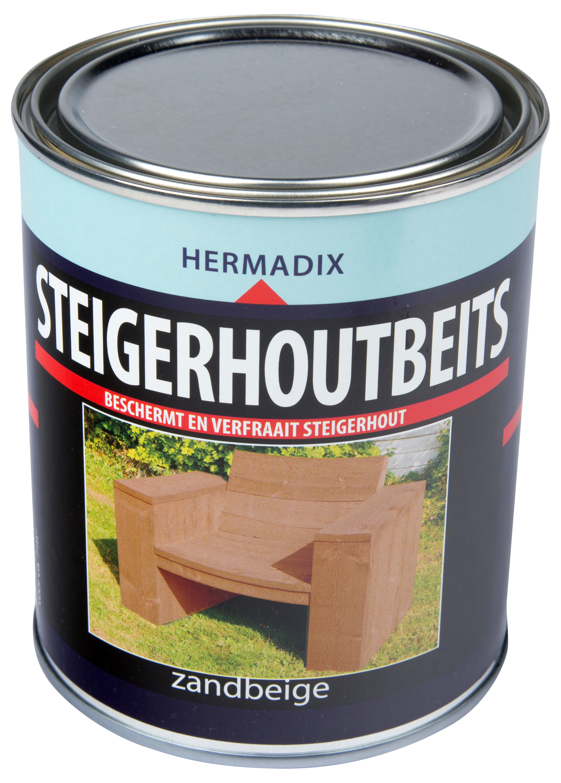 Hermadix   Steigerhouten beits Zand Beige   750 ml