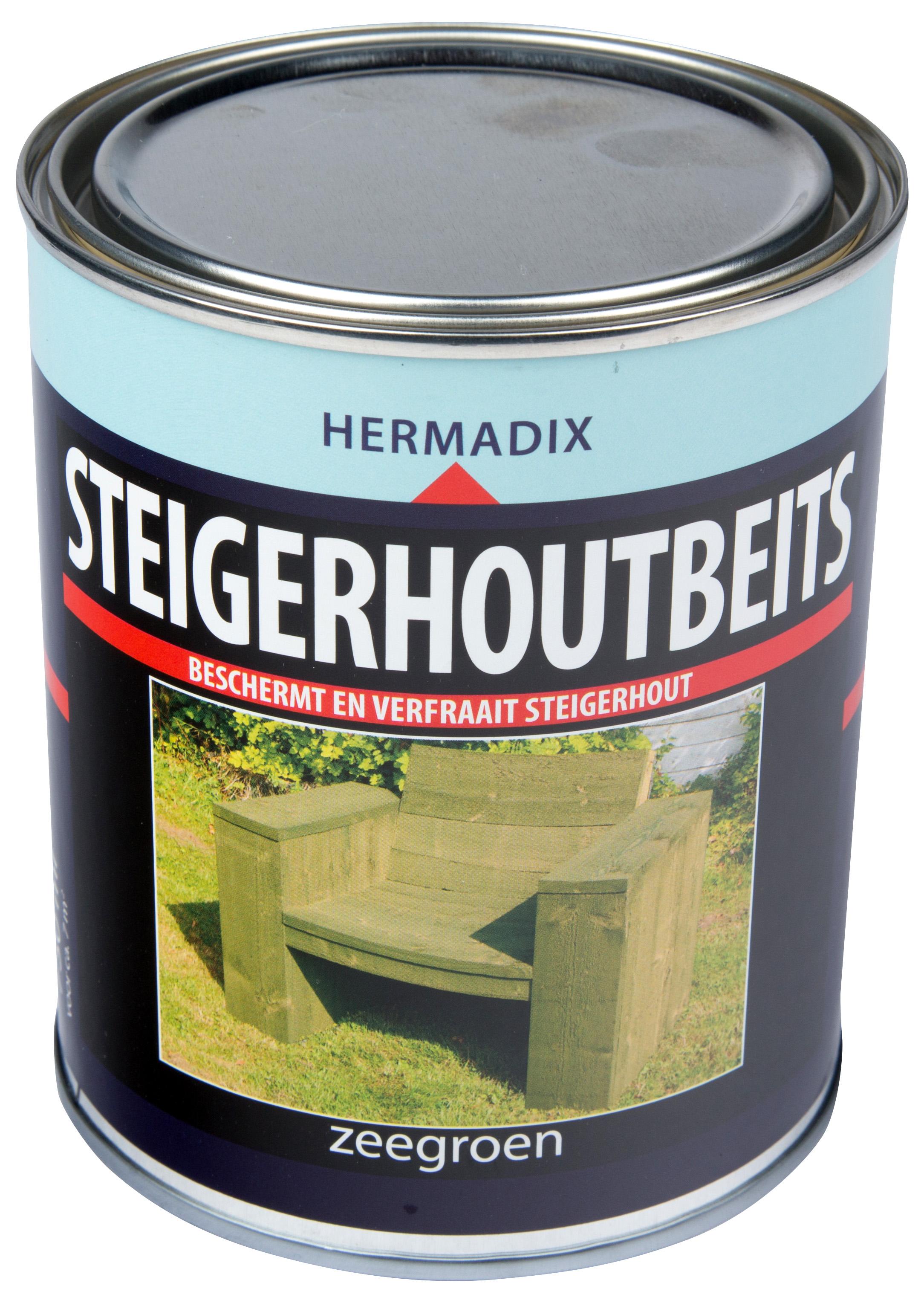 Hermadix   Steigerhouten beits Zee Groen   750 ml