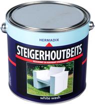 Hermadix | Steigerhouten beits White Wash | 2500 ml