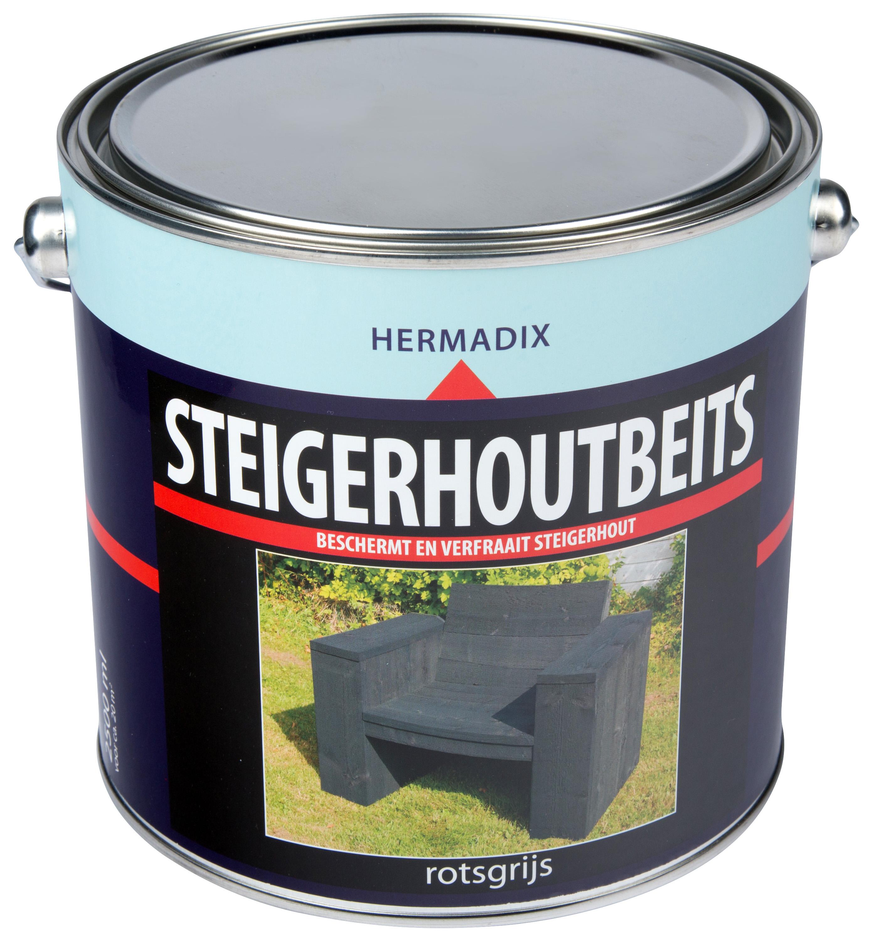 Hermadix   Steigerhouten beits Rots Grijs   2500 ml