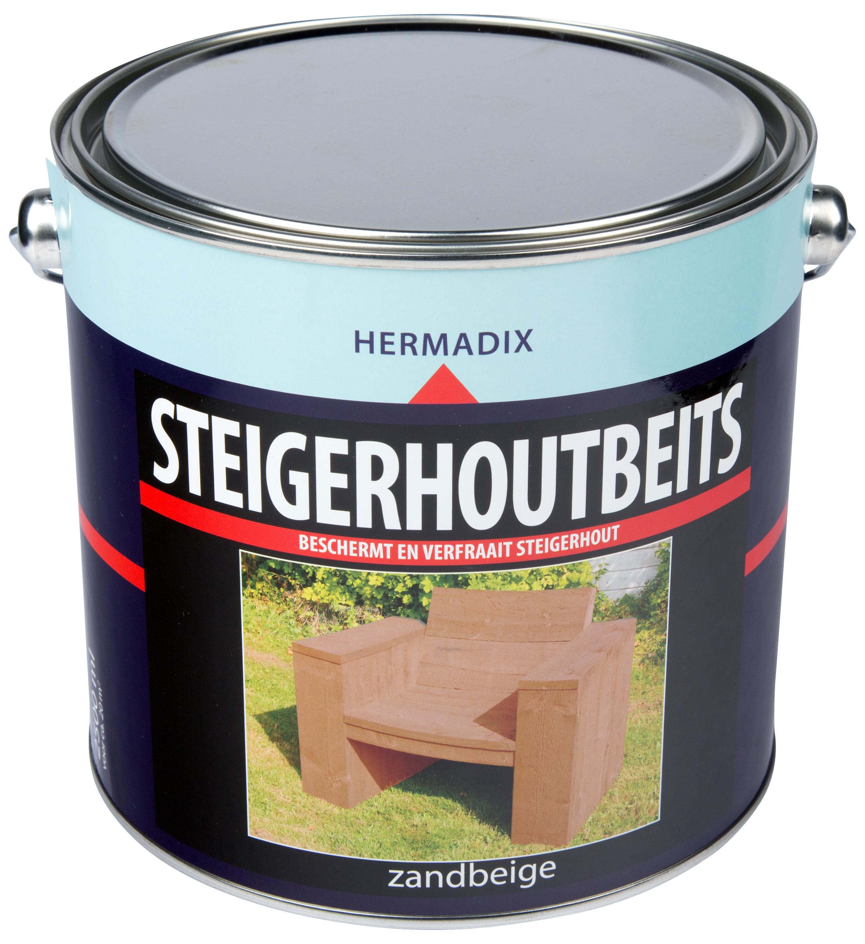 Hermadix   Steigerhouten beits Zand Beige   2500 ml