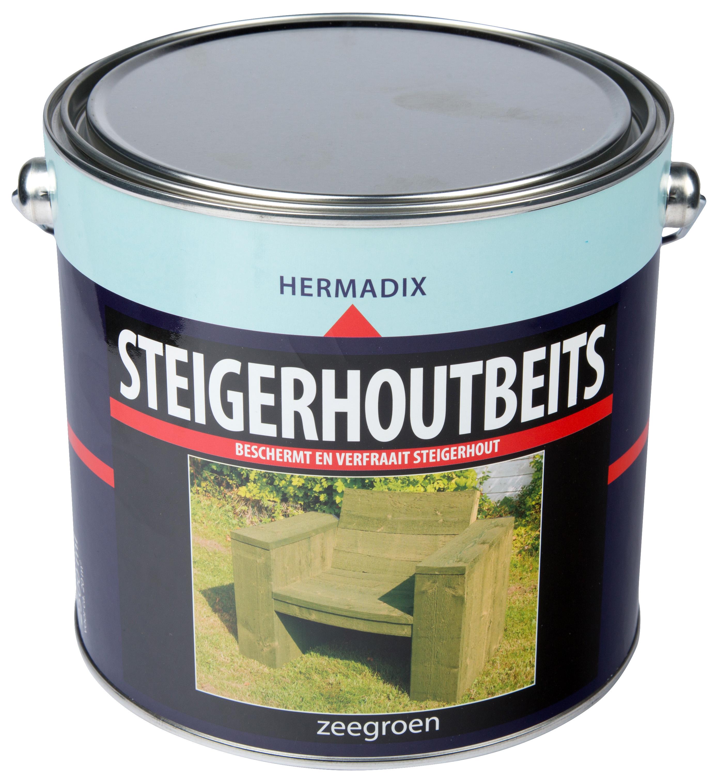Hermadix   Steigerhouten beits Zee Groen   2500 ml