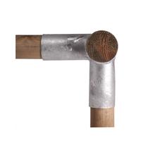Hoekverbinding | Rond 120x100 mm | Verzinkt 90°