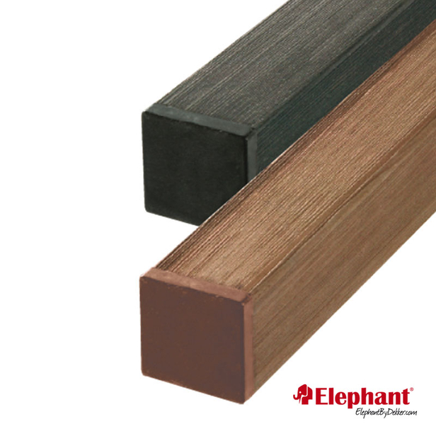 Elephant   Composiet FSC® Basic paal 270 cm   Donkerbruin