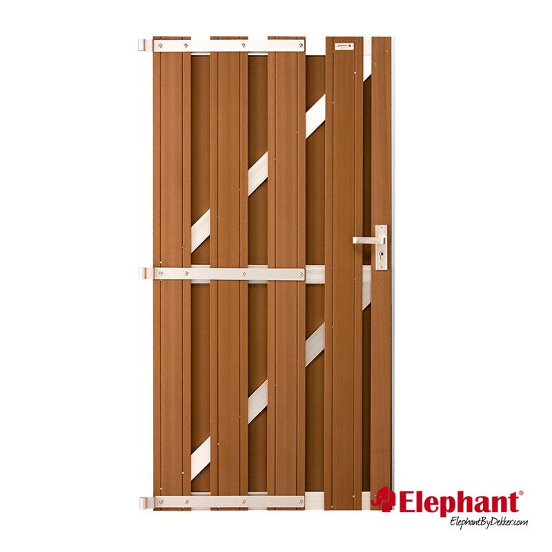 Image of Elephant | Design deur | Bruin/aluminium