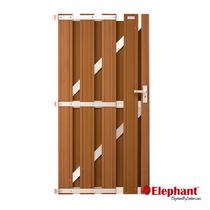 Elephant | Design deur | Bruin/aluminium