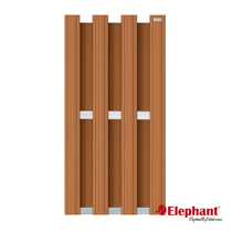 Elephant | Design tuinscherm 90x180 cm | Bruin/aluminium